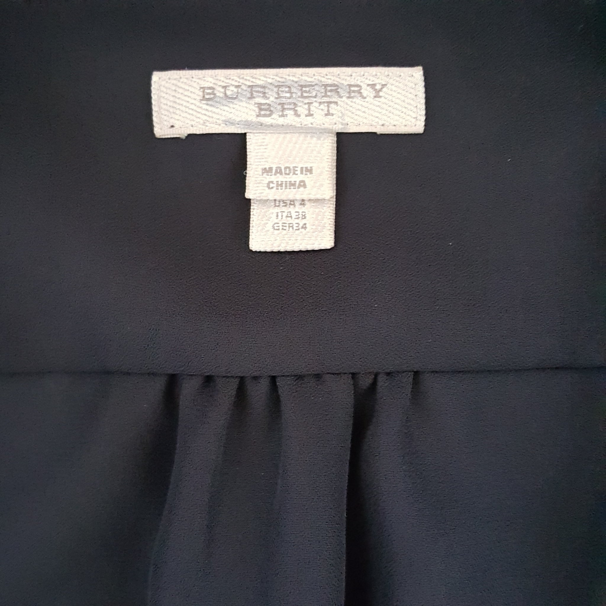 BURBERRY BRIT ELENOR SILK DRESS - SIZE US 4