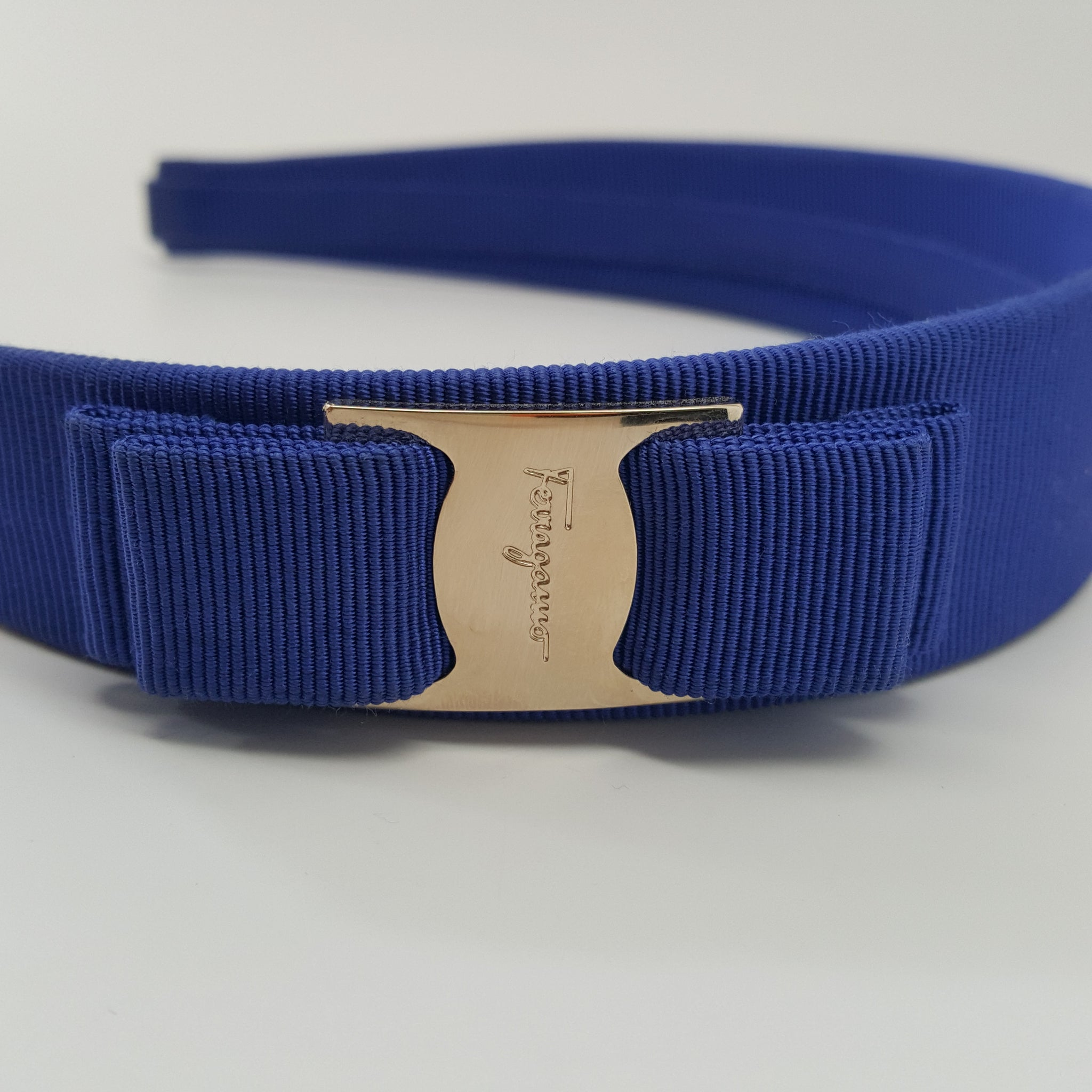 SALVATORE FERRAGAMO VARA HEADBAND - BLUE - ONE SIZE