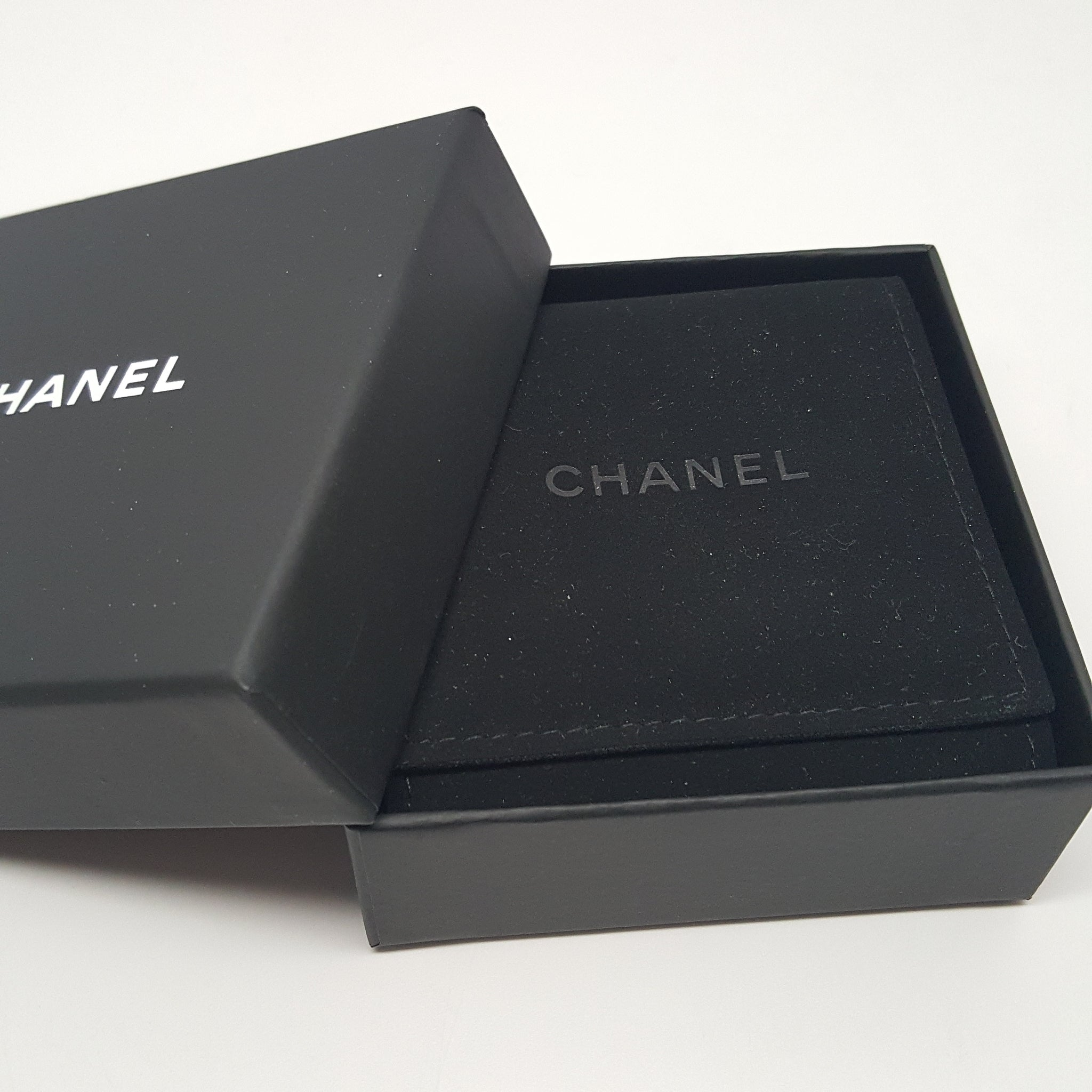 CHANEL CC TIMELESS SILVER STUD EARRINGS