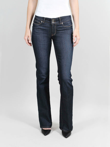 PAIGE HIDDEN HILLS BOOT STREAM (hemmed) JEANS SIZE 25