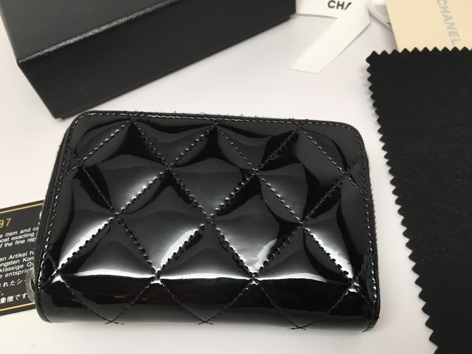 chanel zip coin purse. chanel black patent leather quilted zip around coin purse chanel zip coin purse y