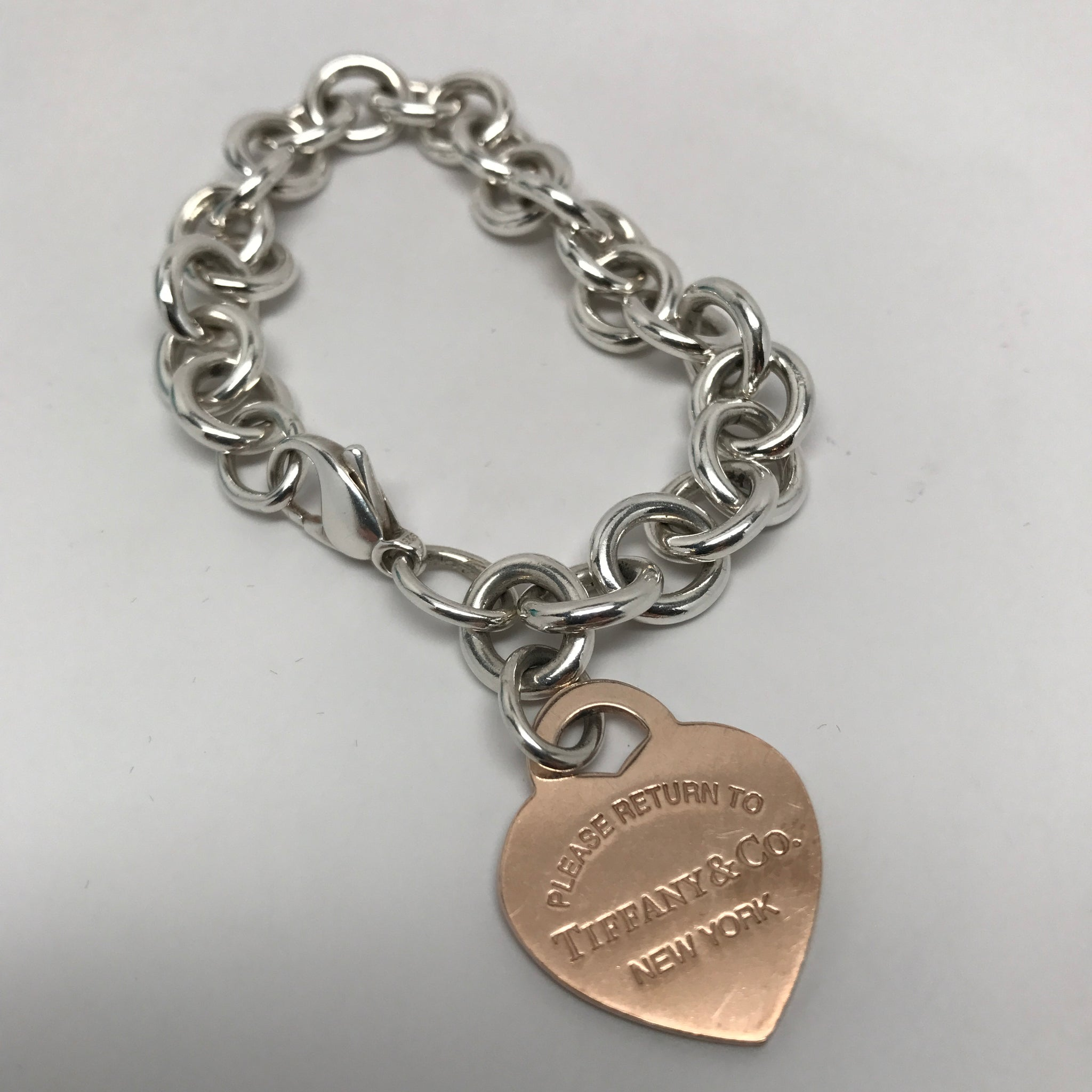 TIFFANY & CO. HEART TAG BRACELET - RUBEDO METAL HEART
