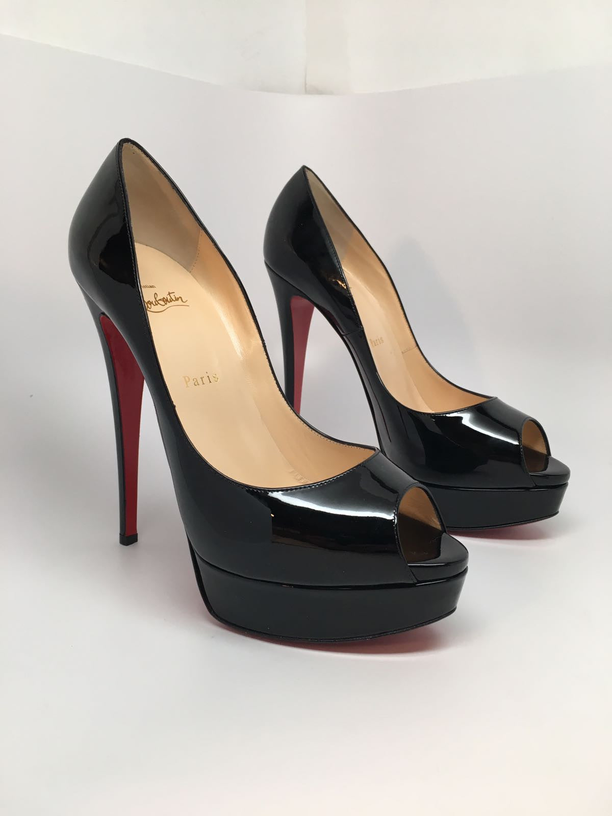 6e483fd81aef CHRISTIAN LOUBOUTIN LADY PEEP 150 PATENT CALF - SIZE 40 – Hebster Boutique