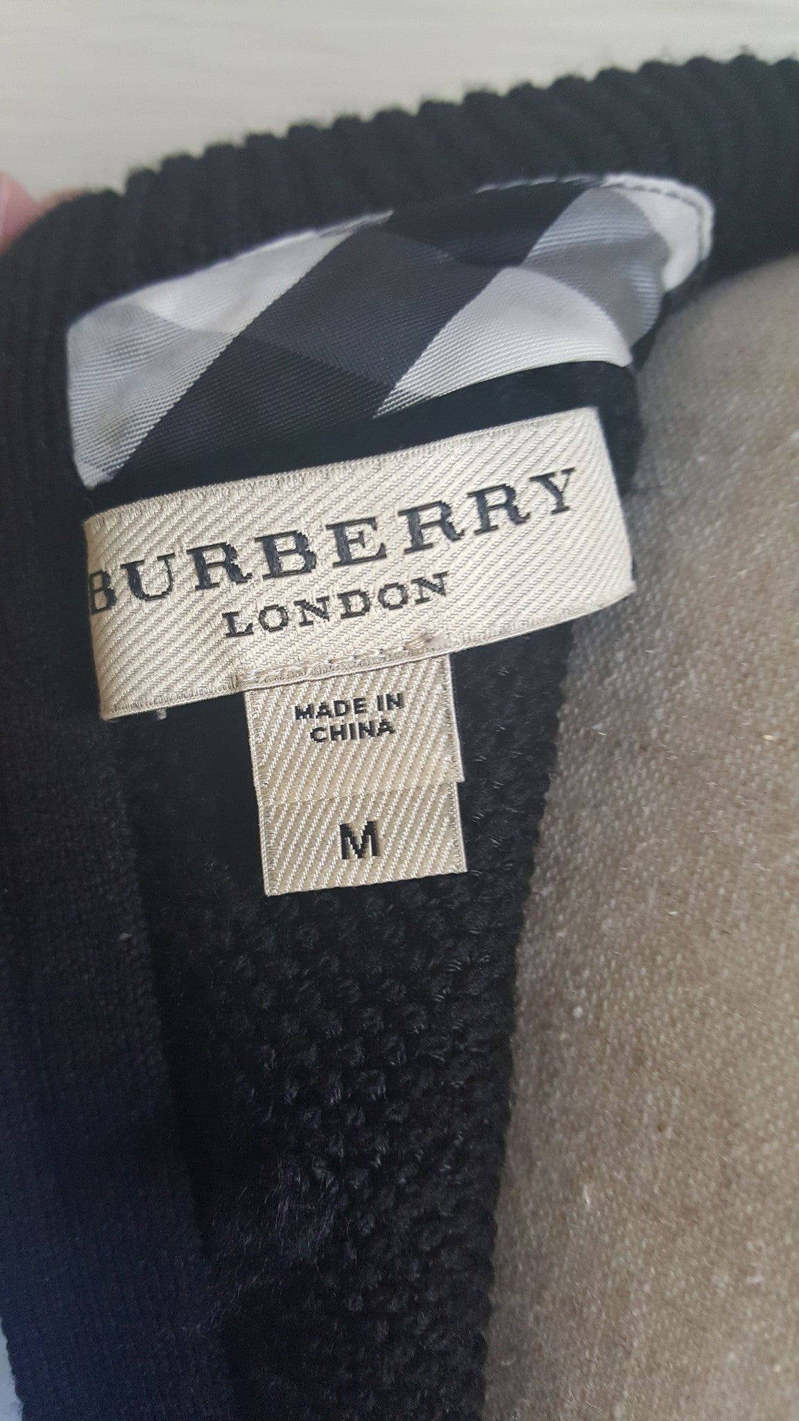 BURBERRY LONDON PEPLUM WOOL SWEATER - SIZE M