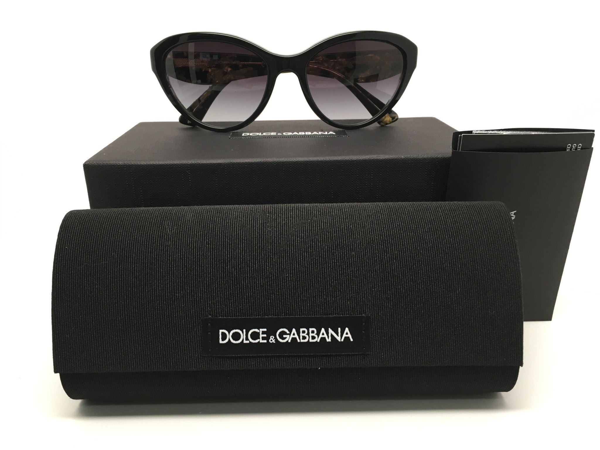 NEW DOLCE & GABBANA GOLD LEAF SUNGLASSES