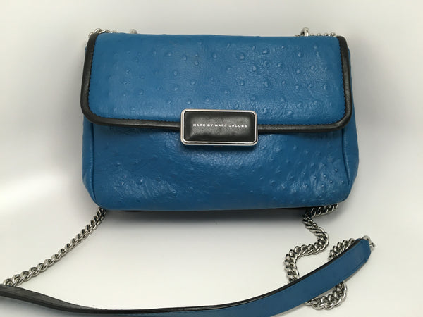 MARC BY MARC JACOBS OSTRICH PRINT REBEL 24 LEATHER CROSSBODY