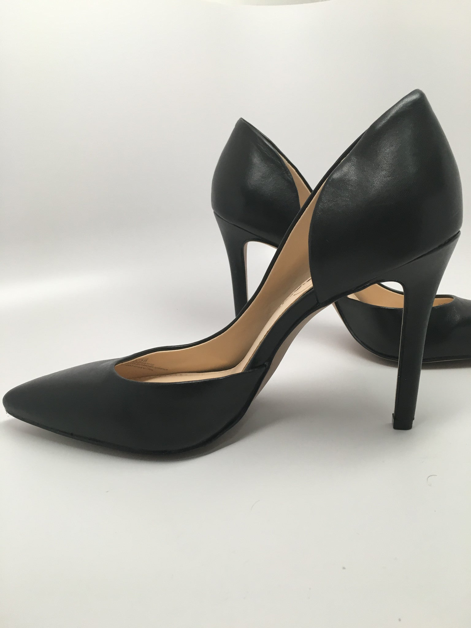 NEW JESSICA SIMPSON CLAUDETTE HALF D'ORSAY LEATHER PUMP - SIZE 8 US