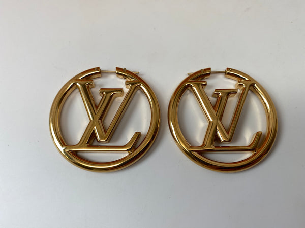 LOUIS VUITTON LV LOUISE HOOP EARRINGS