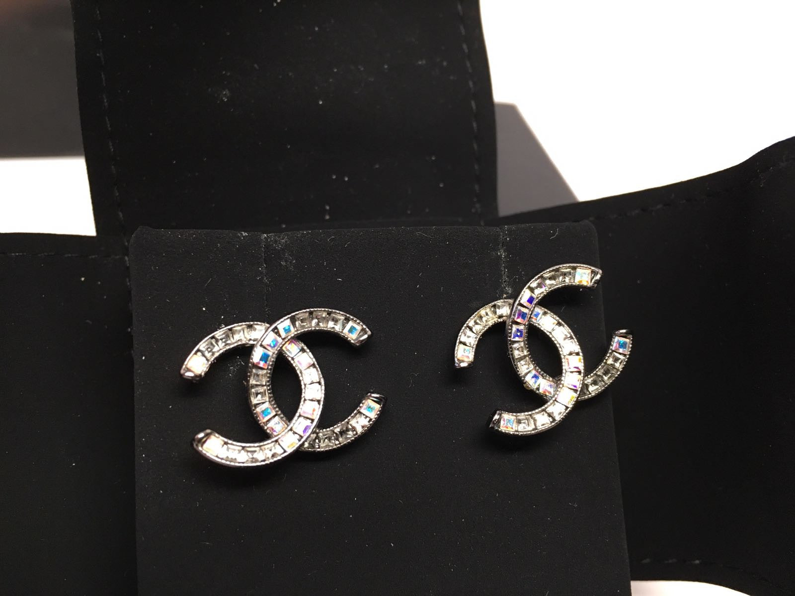 Chanel Cc Timeless Crystal Earrings Hebster Boutique