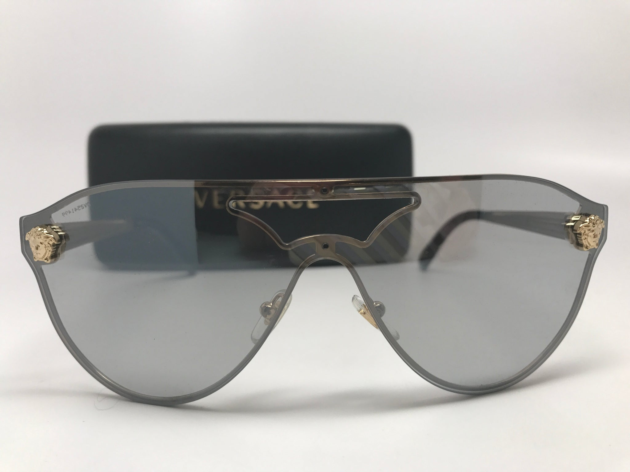 VERSACE METAL FRAME AVIATOR SUNGLASSES