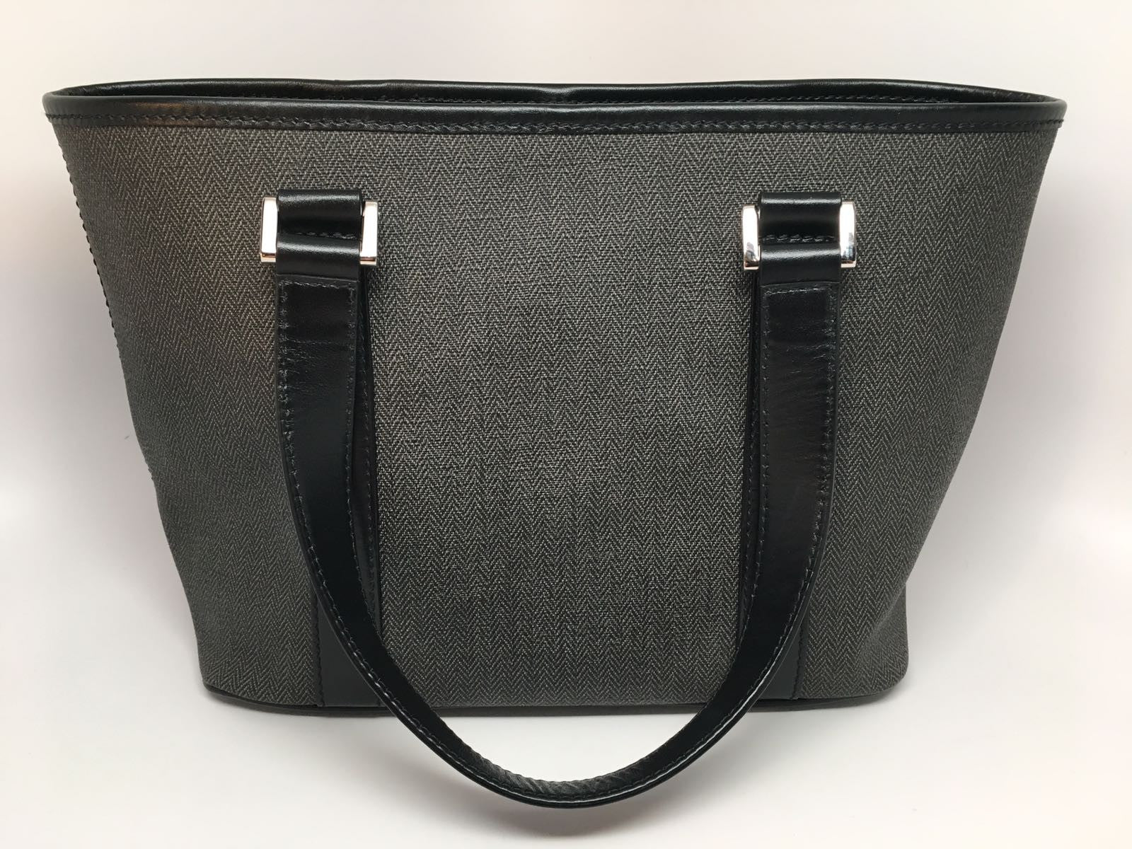 BVLGARI GRAY/BLACK HERITAGE CANVAS WEEKEND TOTE