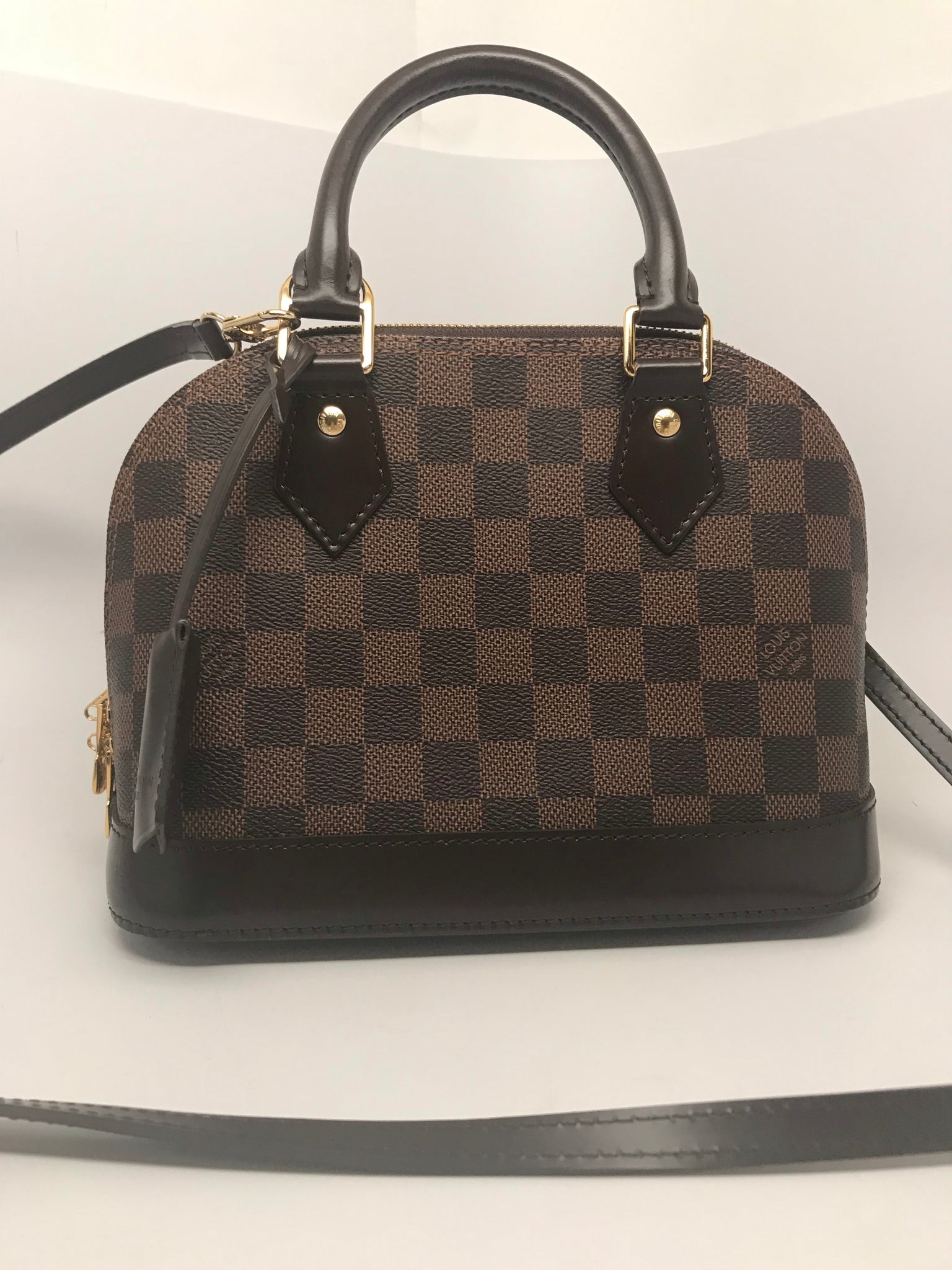 296250087a02 LOUIS VUITTON ALMA BB DAMIER EBENE CANVAS – Hebster Boutique