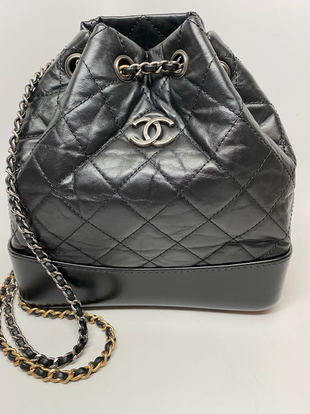 CHANEL SMALL GABRIELLE BACKPACK IN BLACK