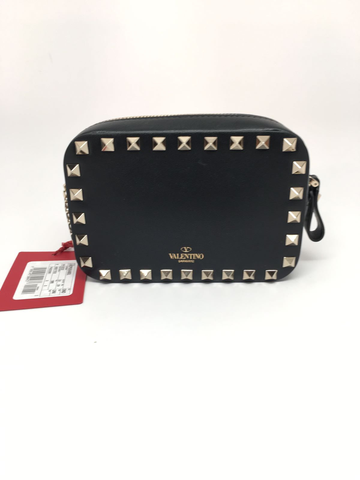 b36b7a57455 VALENTINO MINI ROCKSTUD CHAIN CAMERA BAG - BLACK – Hebster Boutique