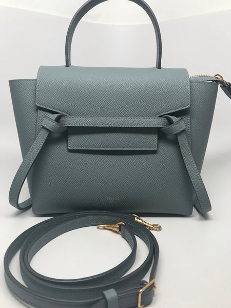CELINE NANO BELT BAG - STORM GRAY