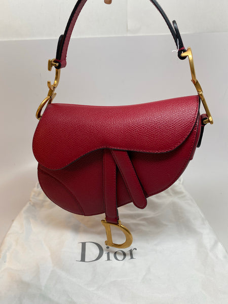 DIOR MINI SADDLE BAG - MALLOW ROSE