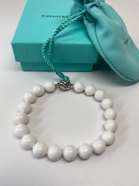 TIFFANY & CO. WHITE DOLOMITE BEAD BRACELET