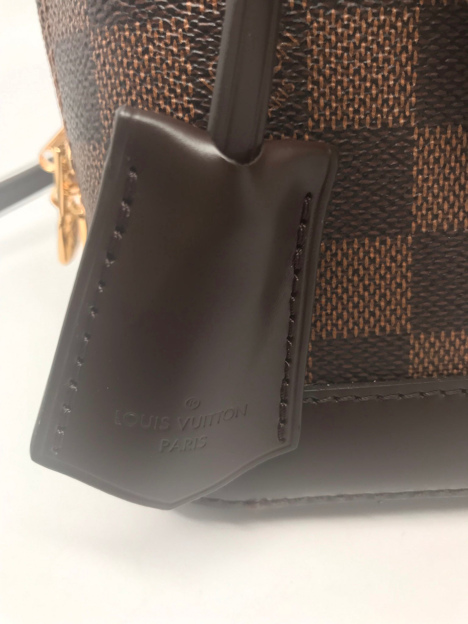 LOUIS VUITTON ALMA BB DAMIER EBENE CANVAS