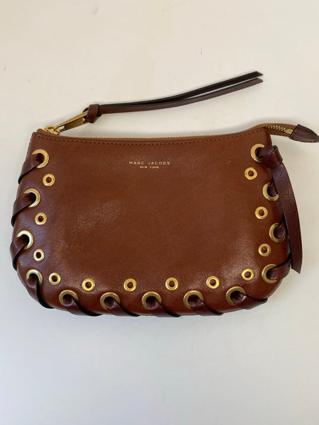 MARC JACOBS BROWN & BURGUNDY WALLET/POUCH