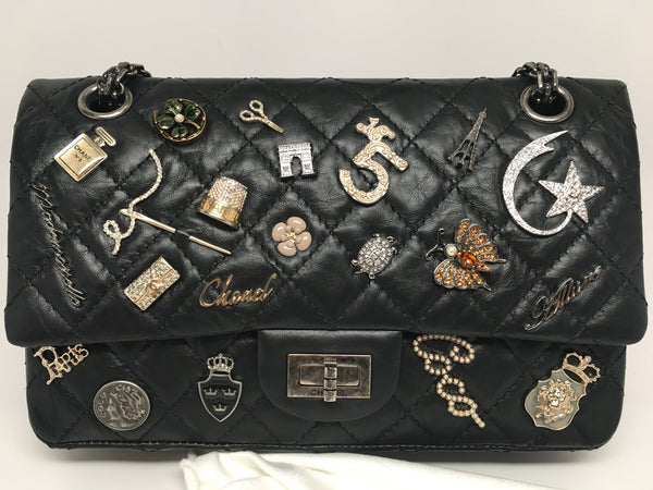 Chanel Vintage Limited Edition Black Quilted Lucky Charm 2