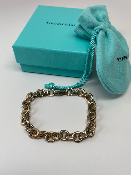 TIFFANY & CO. STERLING SILVER CHAIN LINK BRACELET