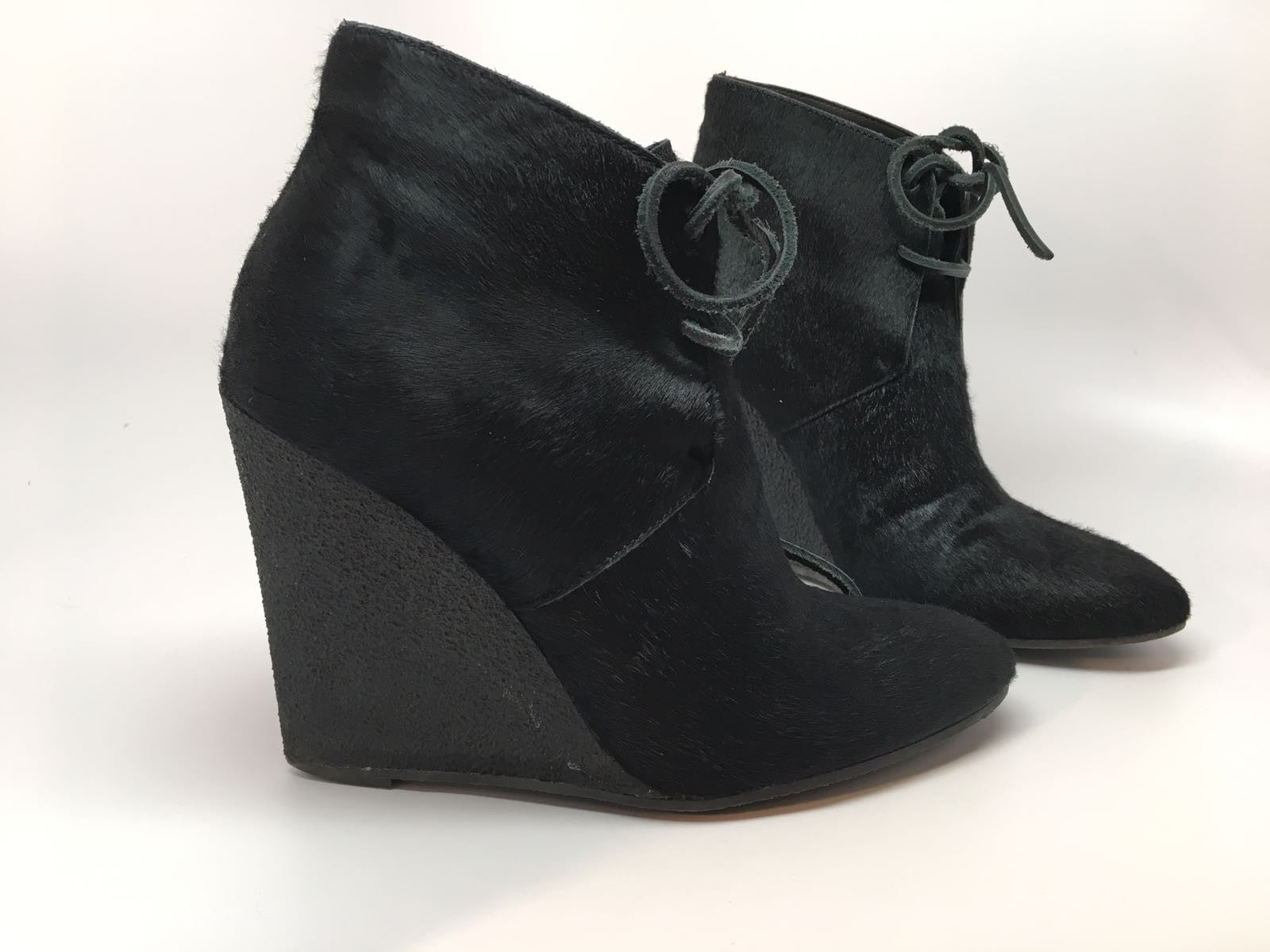 BURBERRY PRORSUM CALF HAIR WEDGE ANKLE BOOT - SIZE 36