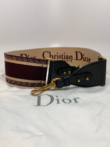 DIOR SHOULDER STRAP - BURGUNDY