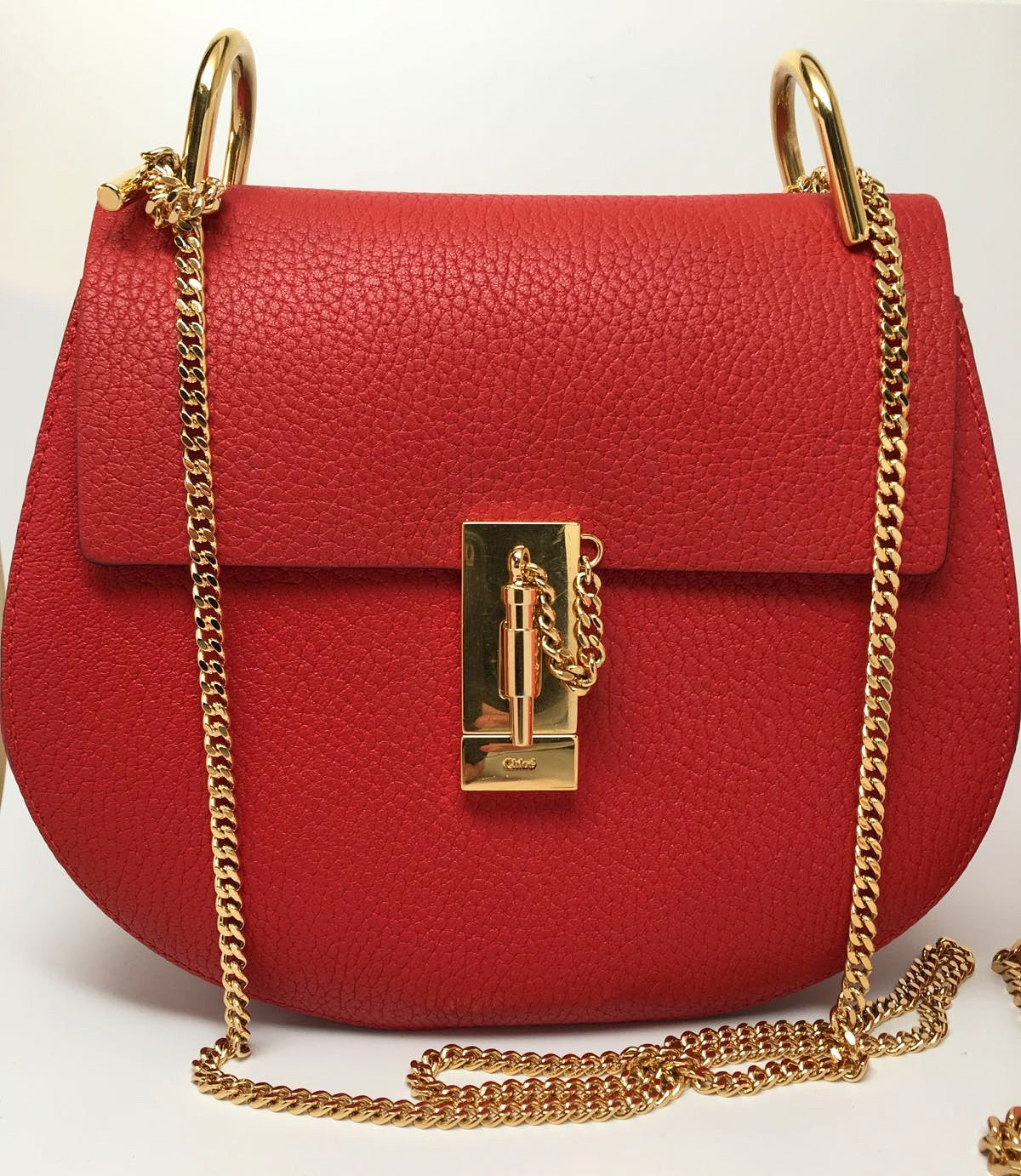 Chloé SMALL DREW LAMBSKIN LEATHER SHOULDER BAG