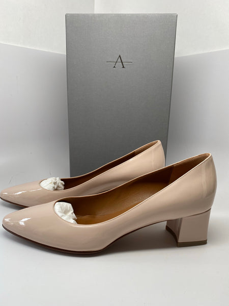 AQUATALIA PHEOBE PATENT SHOE IN BLUSH - SIZE 10