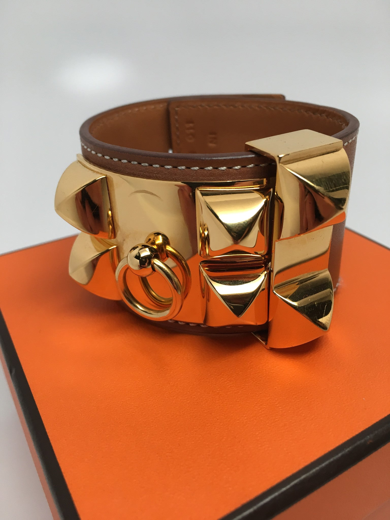 HERMES COLLIER DE CHIEN BRACELET - GOLD PLATED - SIZE SMALL (PM)