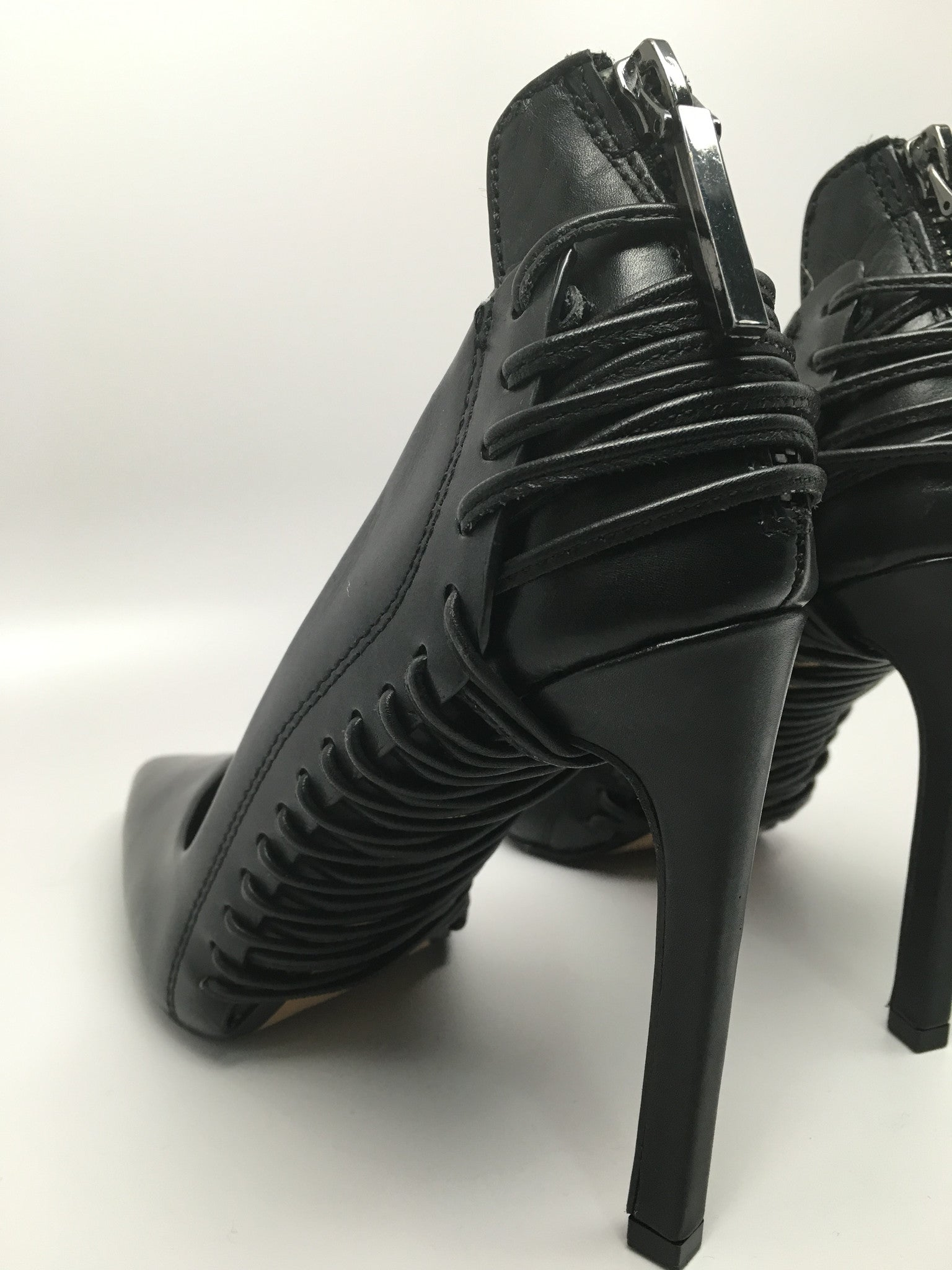 NEW DOLCE VITA PUMPS BLACK LEATHER SIZE 35