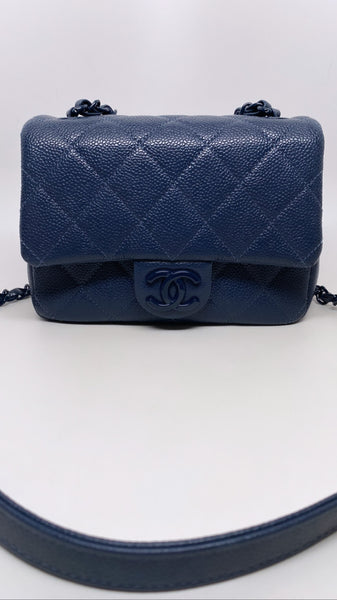 CHANEL INCOGNITO MINI SQUARE FLAP BAG - MIDNIGHT BLUE