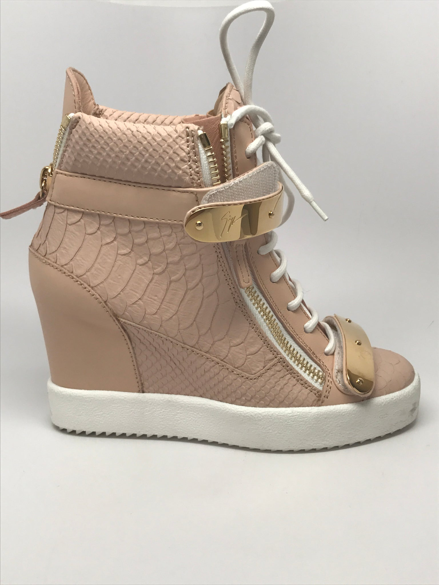 a332944a4cf02 GIUSEPPE ZANOTTI 'JENNIFER' EMBOSSED CROCODILE LEATHER WEDGE SNEAKER - SIZE  37