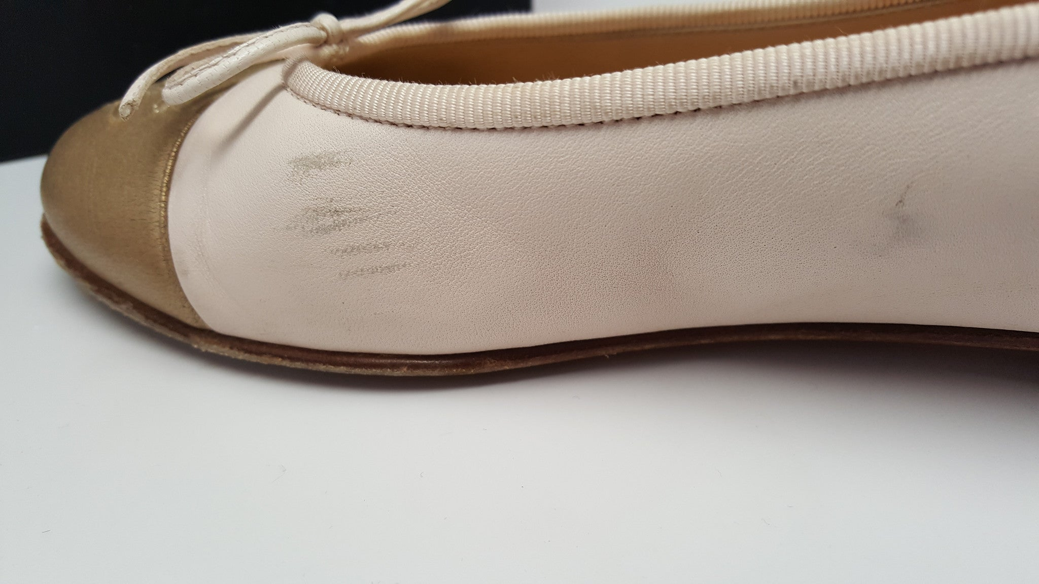 CHANEL BALLERINES FLATS - ROSE CLAIR - SIZE 37