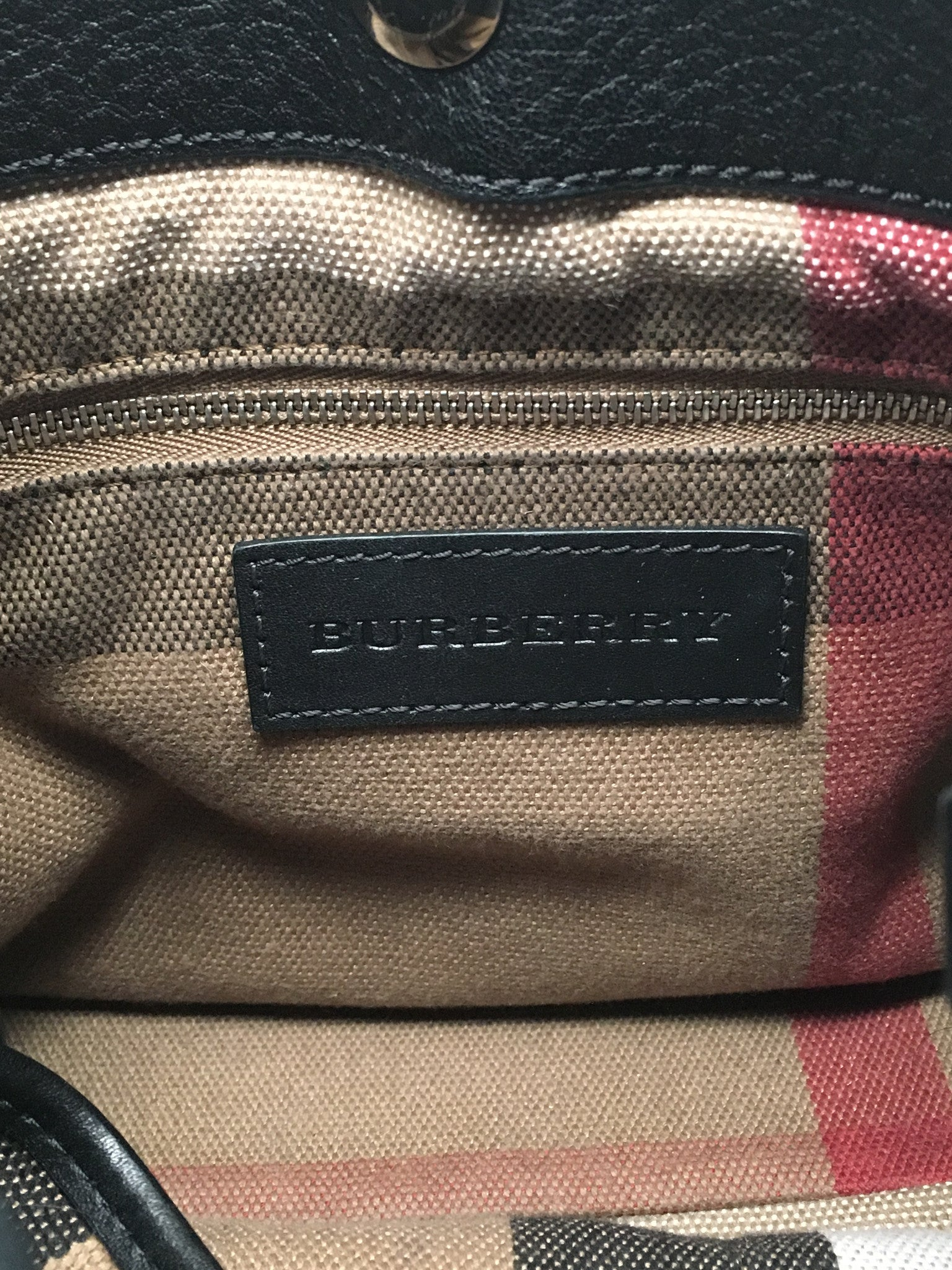 BURBERRY SMALL MAIDSTONE LEATHER SATCHEL