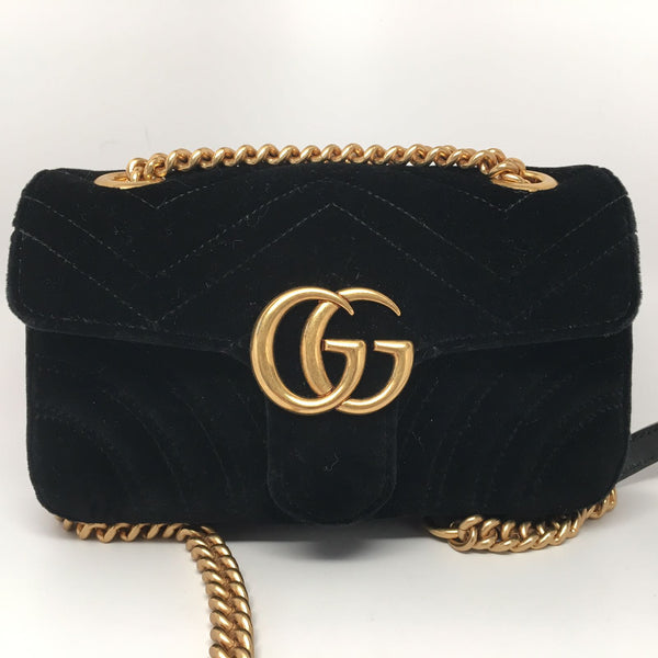 6a71a5d30a54 GUCCI GG MARMONT VELVET MINI SHOULDER BAG – Hebster Boutique