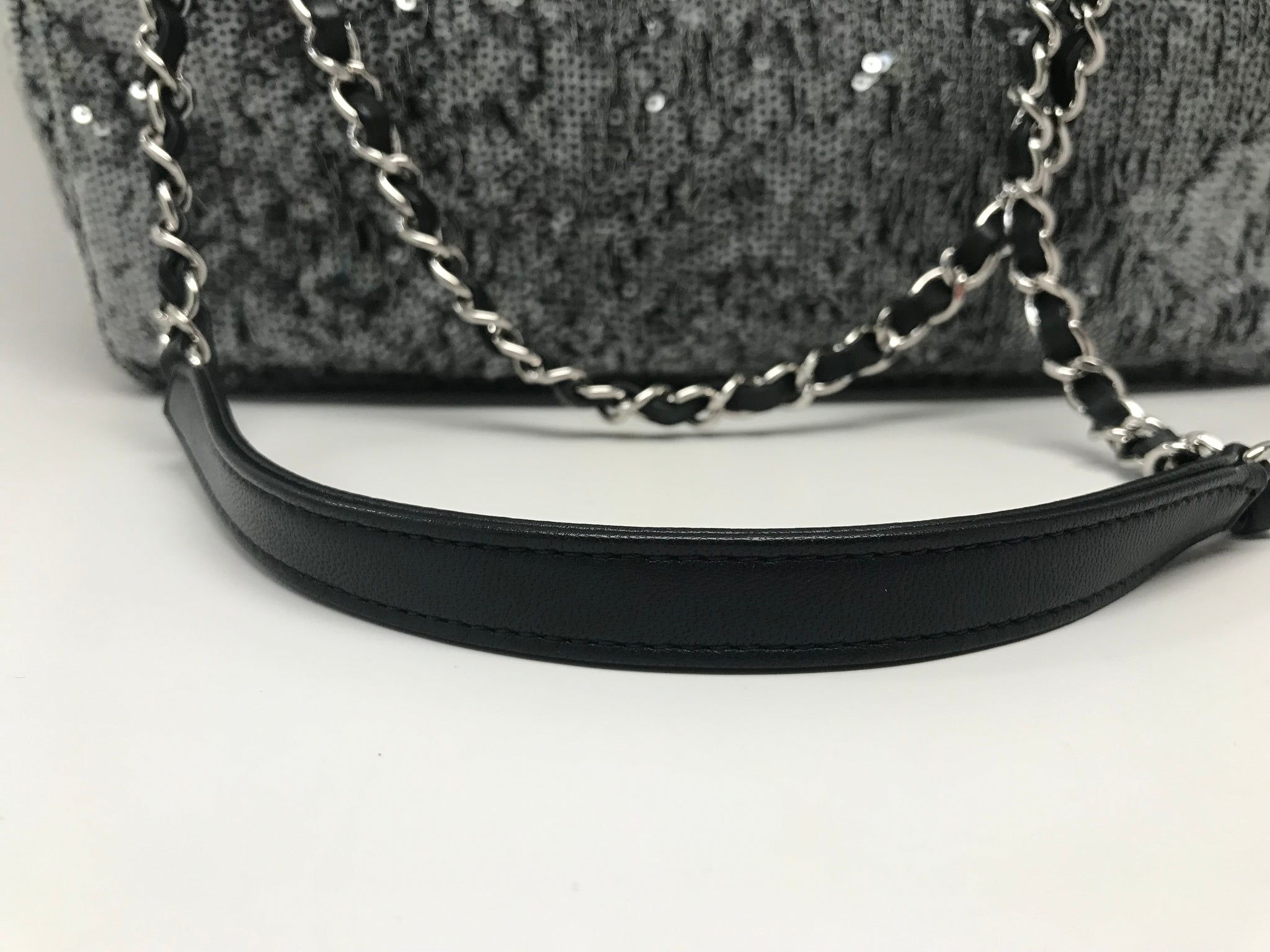 CHANEL JUMBO FLAP BAG - SILVER SEQUENCE