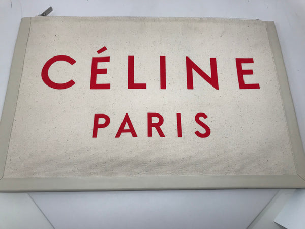 CELINE LARGE 'MADE IN' FABRIC CLUTCH