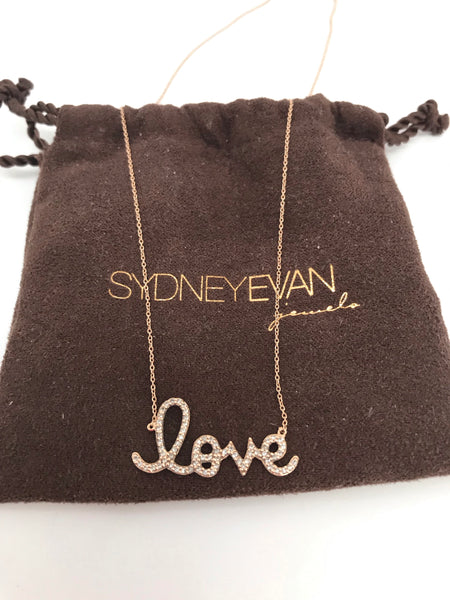 SYDNEY EVAN - DIAMOND AND 14K YELLOW GOLD LOVE NECKLACE