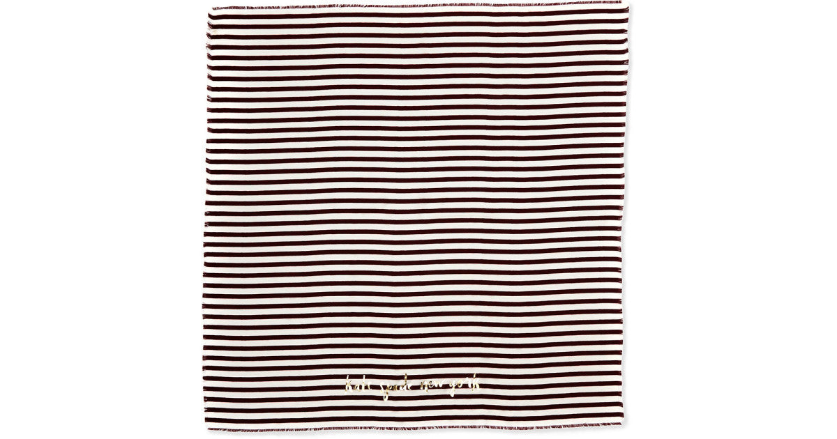 NEW KATE SPADE PLANETARY STRIPE LARGE SQUARE SILK SCARF
