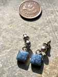 Vintage Sterling Silver Sodalite Earrings