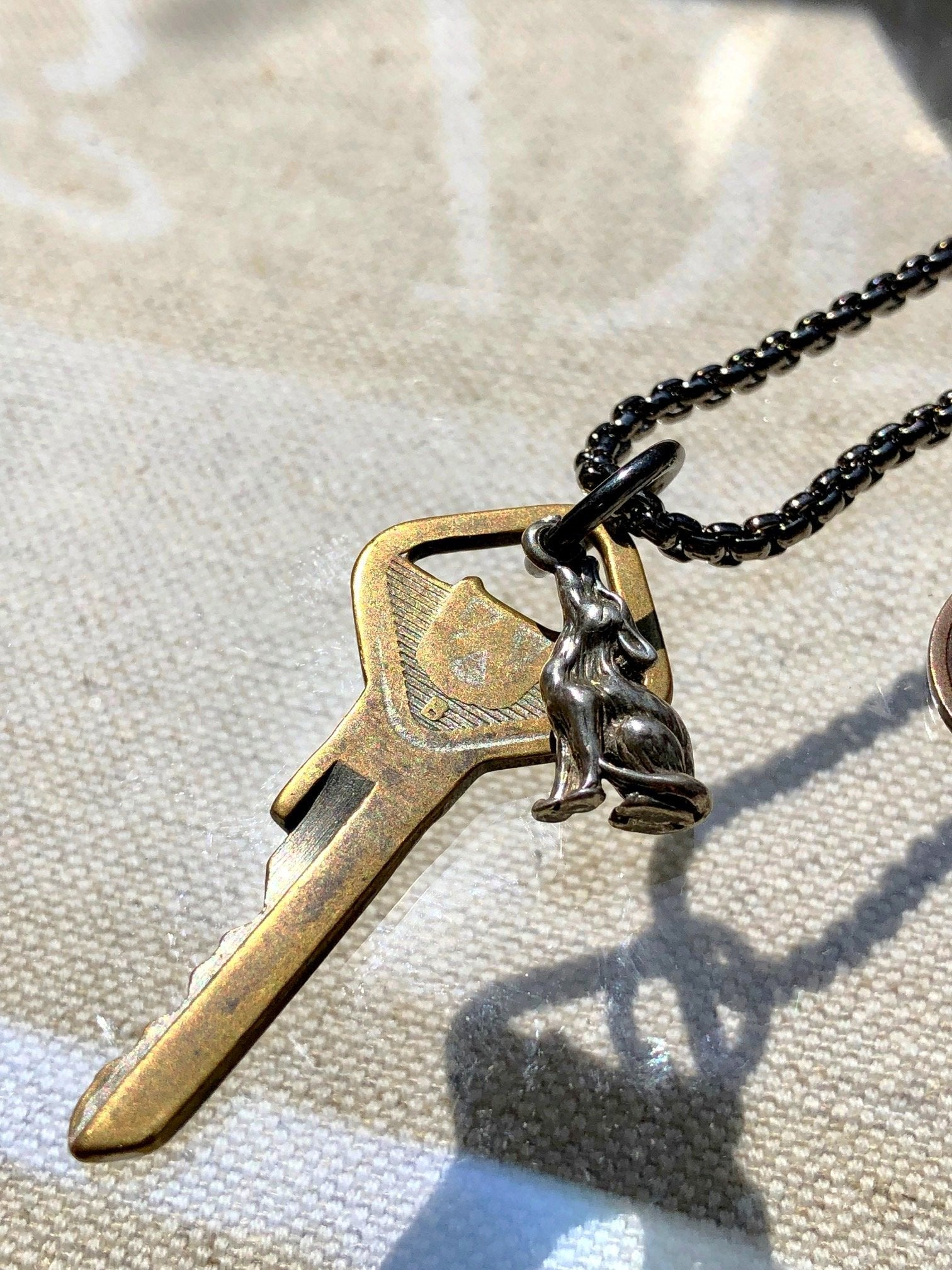 """Wear Out To Be Renewed"" 1888 Design Necklace"