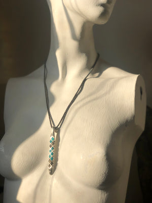 """The Great Blue Sky...Stone"" 1888 Design Necklace"