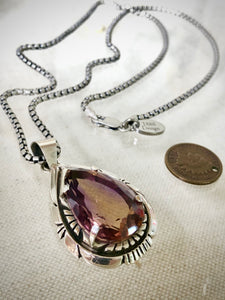 Rare Vintage Charles Johnson Ametrine Teardrop. 1888 Design Necklace