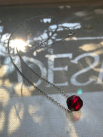 """Garnet Heart"" 1888 Design Necklace"
