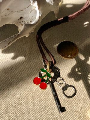 """Cherry Kiss"" 1888 Design Necklace"