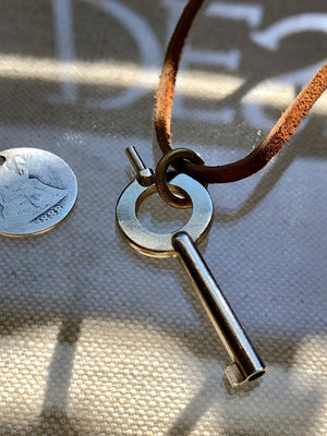 """Key Free"" Leather 1888 Design Limited Run Necklace"