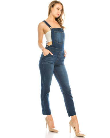 ZIMEGO  Women's Ripped Distressed Skinny Slim Stretch Denim Overall Pants