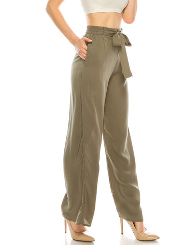 ZIMEGO  Mid Or High Waist Cropped Skinny Or Wide Leg Trouser Pants Culottes