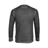 Dream Supply by ZIMEGO Men's Long Sleeve Lightweight Waffle Thermal henley Burnout Garment Dye - DREAM SUPPLY by ZIMEGO